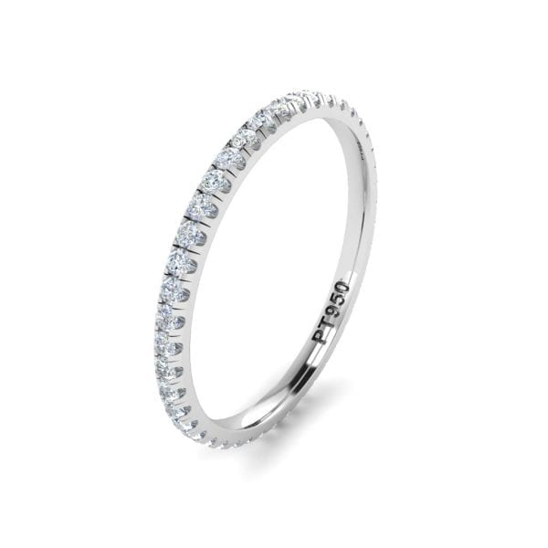 Platinum Diamnd Eternity Band