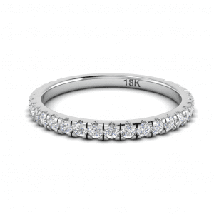 White Gold French Pave Diamond Band