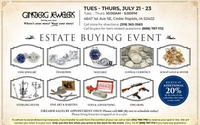 Our popular Estate Buying Event returns July 21 – 23 (Tues, Wed & Thurs)
