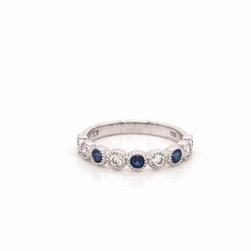 Diamond and Sapphire Bezel Set Band