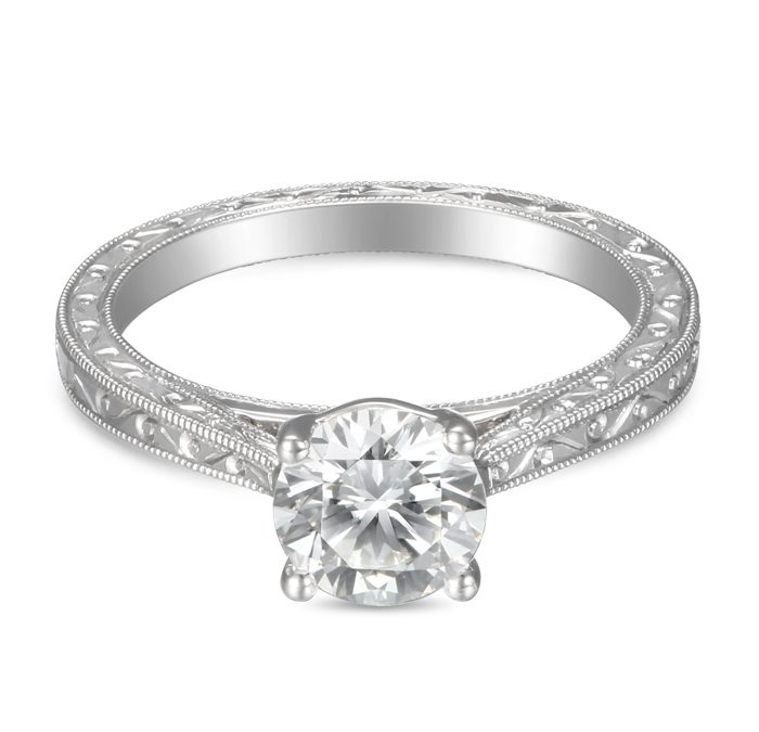 Spotlight On Martin Flyer Vintage Style Engagement Rings Goldsmith Jewelers