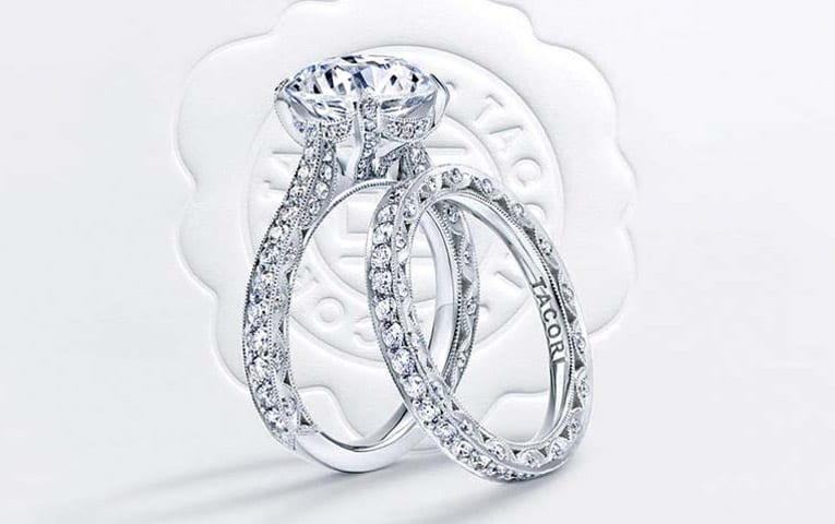 How To Wear Your Engagement Ring And Wedding Ring Mervis Diamond Importers