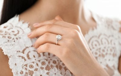 Should Your Engagement Ring and Wedding Dress Be the Same Style?
