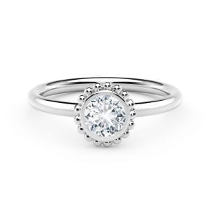 The Forevermark Tribute™ Collection 18K Beaded Diamond Ring