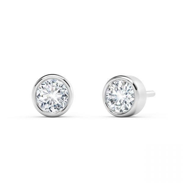 The Forevermark Tribute™ Collection 18k Bezel Stud Earrings