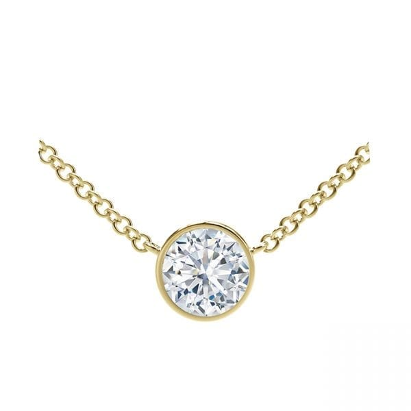 The Forevermark Tribute™ Collection 18k Round Diamond Necklace