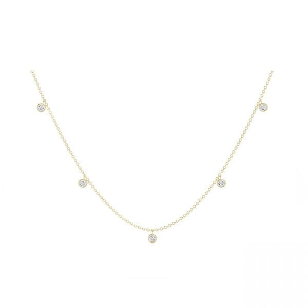 The Forevermark Tribute™ Collection 18k Five Stone Dangle Necklace