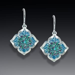 Blue Topaz Davinchi Cut Earrings