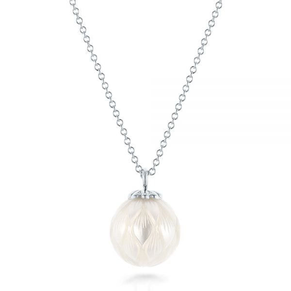 Carved Pearl Pendant