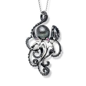 Sterling Silver Octopus Pearl Pendant