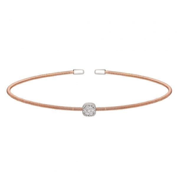 Kelly Waters Rose Gold finish Sterling Silver Cable Cuff