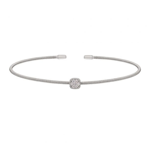 Kelly Waters Rhodium finish Sterling Silver Cable Cuff