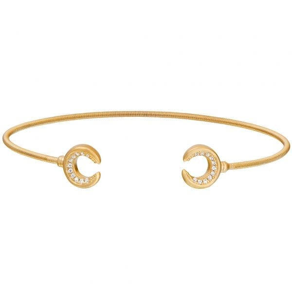 Kelly Waters Gold finish Sterling Silver Cable Cuff
