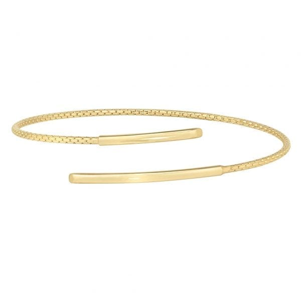 Kelly Waters Gold Finish Sterling Silver Corean Cable Cuff