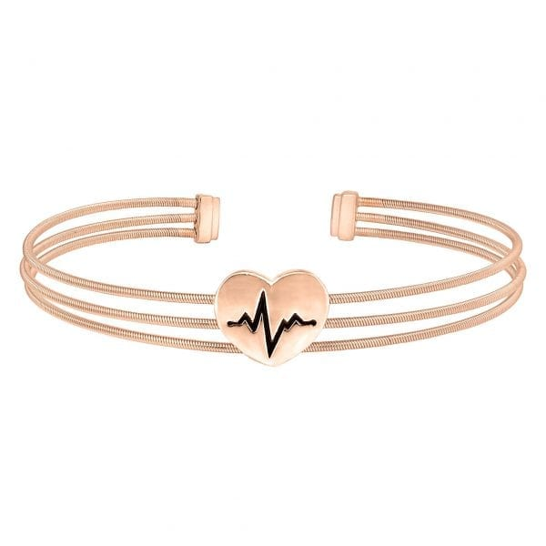 Kelly Waters Rose Gold finish Sterling Silver Three Cable Cuff