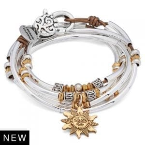Lizzy James Emory with Gold Sun Charm 2-in-1 Bracelet/Necklace