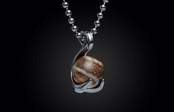 William Henry Wooly Mammoth Swan Necklace